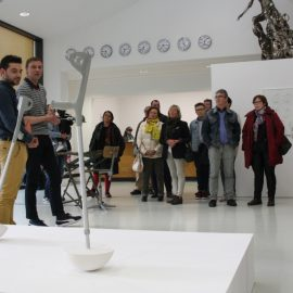 Vernissage de l'exposition « Turn around », le 27 avril