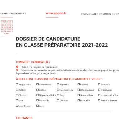 Inscriptions classe prépa 2021-2022 : à vos dossiers !