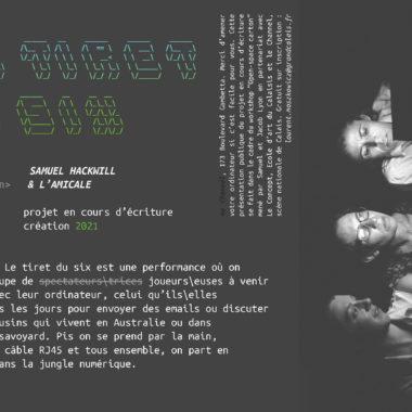 Suite du projet «Open-space carton» avec Samuel HACKWILL  et Jacob LYON > Présentation du « tiret du six » > 22.01.21